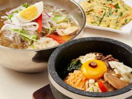 おすすめメニュー 石焼きビビンバ+冷麺のハーフ&ハーフセット
