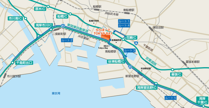 Access route map