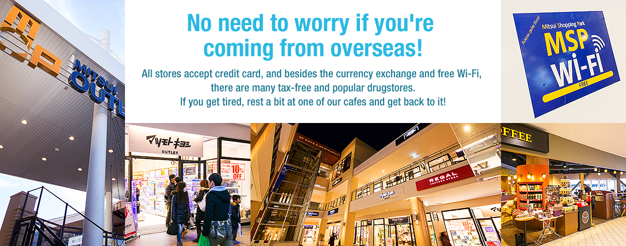 No need to worry if you're coming from overseas!