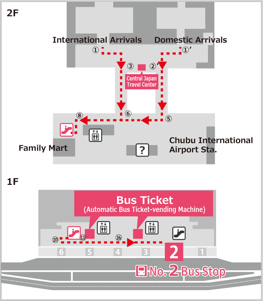 Bus Stop at Chubu International Airport