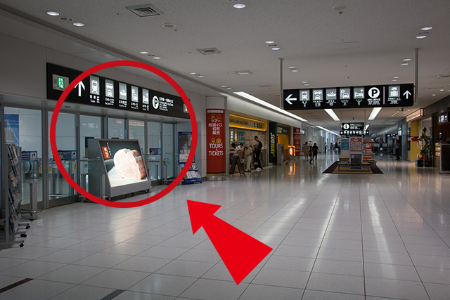 2.Continue straight, go through the passageway visible on your left, and head towards the access plaza.