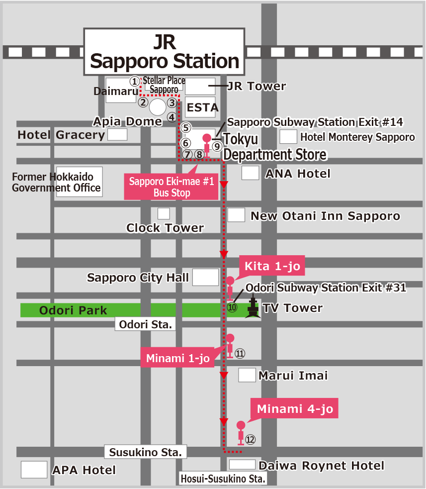 Sapporo Subway Map.Transportation Access