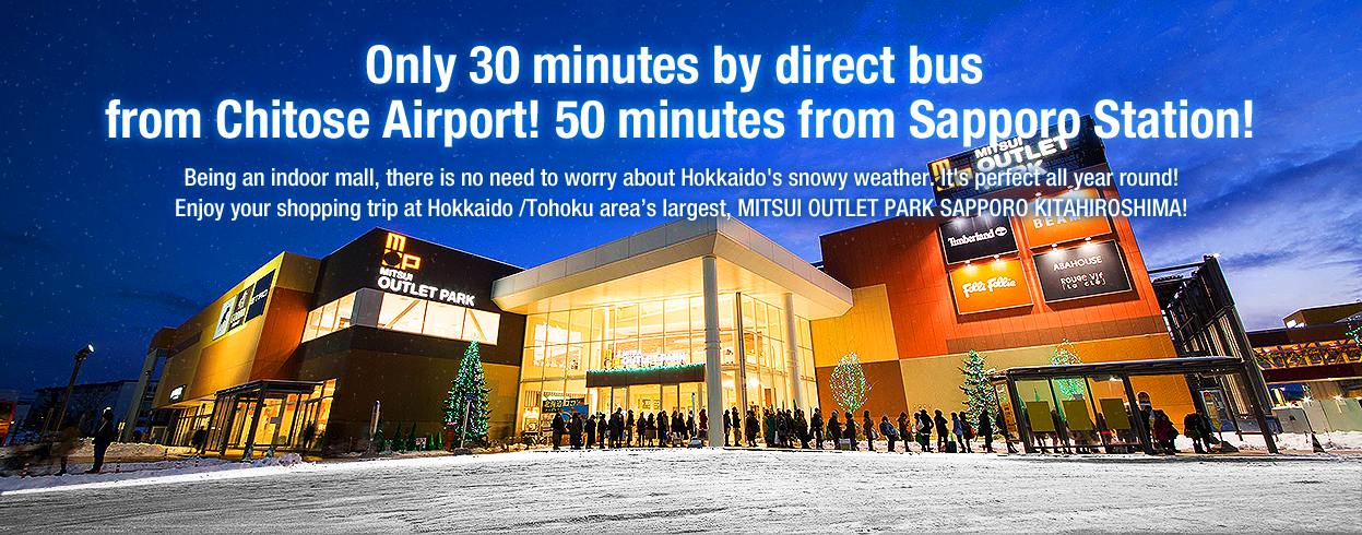 Only 30 minutes by direct bus from Chitose Airport! 50 minutes from Sapporo Station!
