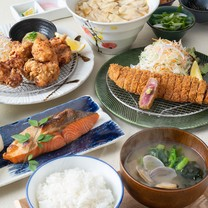 Beef cutlet and Japanese set meal KYOTOKATSUGYU