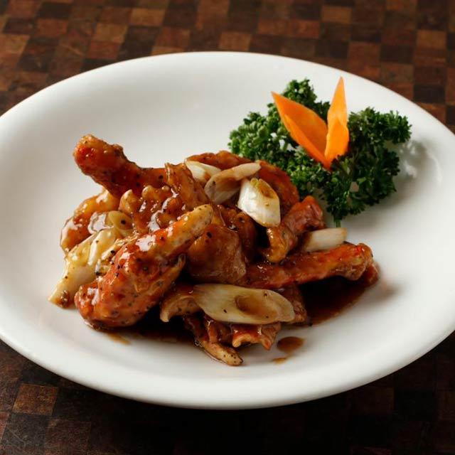 タラバ蟹の黒胡椒味