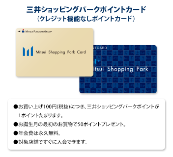 Mitsui Shopping Park reward card (reward card which there is no credit function in)